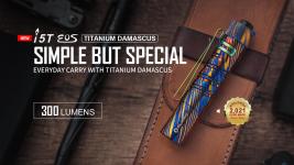Flash Sale Titanium Damascus i5T